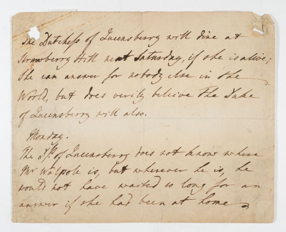 Letter : to [Horace Walpole], Monday [177-?]