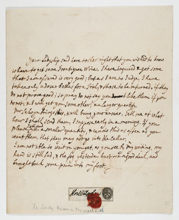 Letter to Lady Diana Beauclerk, [between 1782 and 1790]