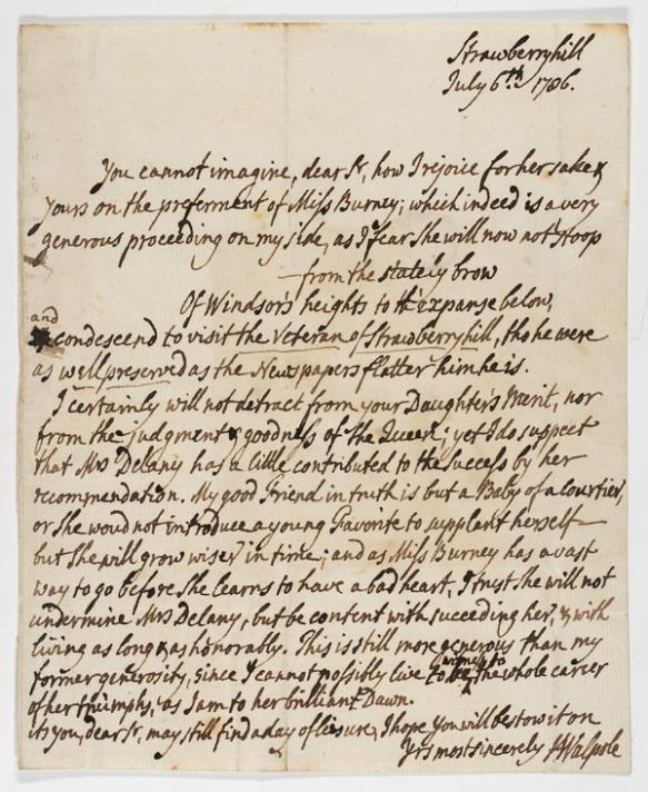 Letter to Charles Burney...