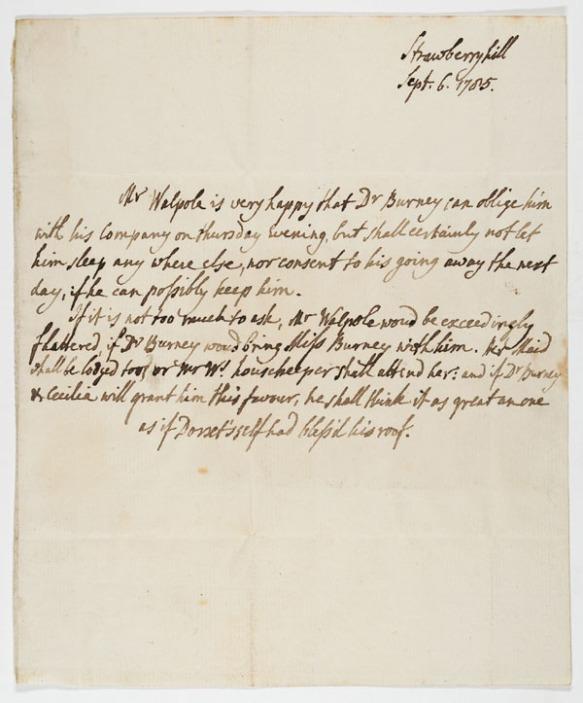 Letter : [Twickenham], to Charles Burney, 1785 Sept. 6