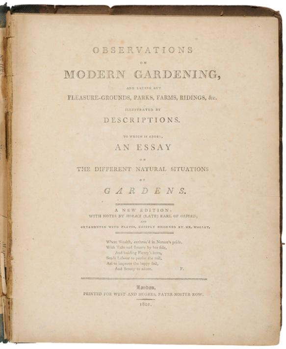 Title Page: Observations on modern gardening, and laying out of pleasure-grounds ...