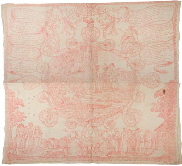 Print on cotton : etching, madder ; 61 x 67 cm