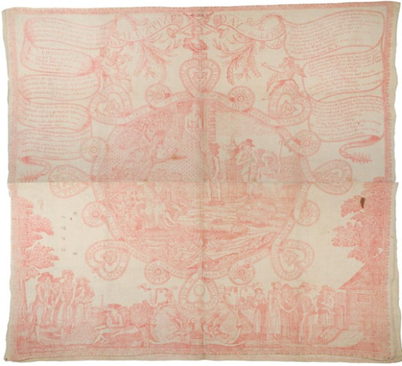 Print on cotton : etching, madder ; 61 x 67 cm