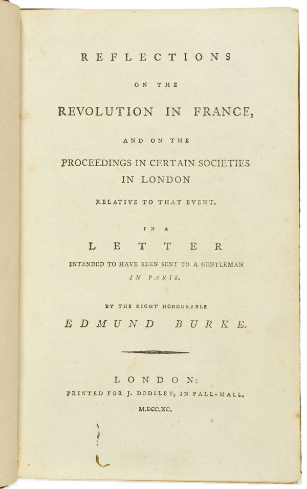 Reflections on the revolution in France...