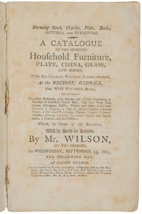 Catalogue of the genuine household furniture...