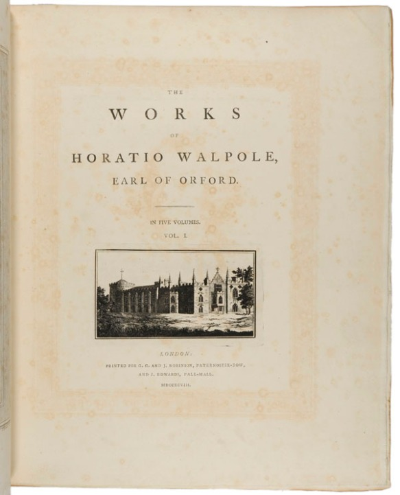 The works of Horatio Walpole, Earl of Orford, Vol. 1