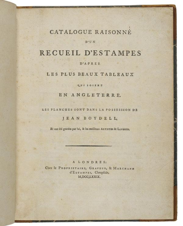 Catalogue raisonné d'un recueil d'estampes... (Title Page)