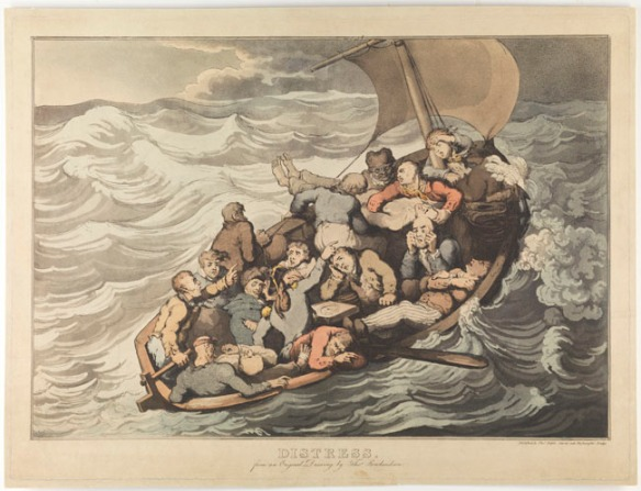 Distress: 1 print on wove paper : etching and aquatint, hand-colored ; plate mark 36.8 x 49 cm., on sheet 38 x 51 cm.