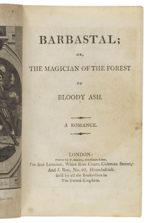 Title page: Barbastal, or the magician...