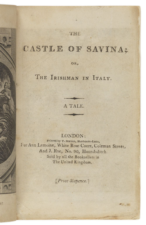 Title page: The castle of Savina...