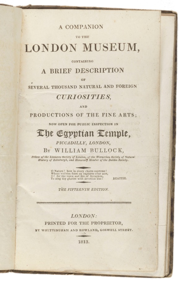 Title page: A companion to the London museum...