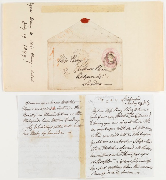 Letters : M. Berry ... 1846-1850...5 items (17 p.) ; 18 cm. or smaller.