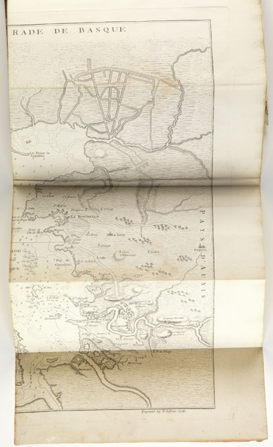 Folding map from: The conduct of Admiral Knowles on the late exhibition set in a true light.