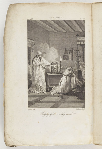 Frontispiece [Copy 2, Vol. 3]: The monk: a romance in three acts