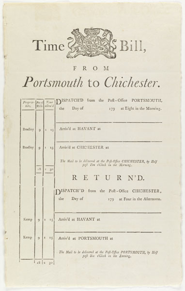 Time bill from Portsmouth to Chichester...