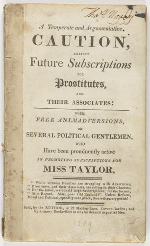 Title page: A temperate and agumentative...