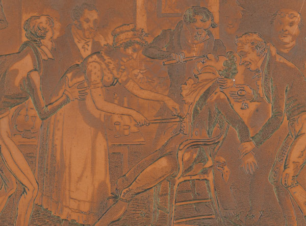 Detail from copper plate