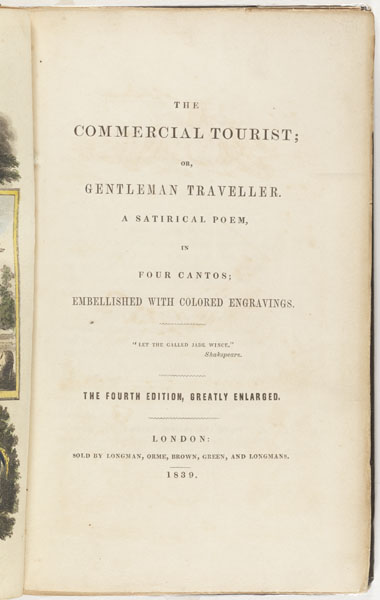 Title page: The commercial tourist, or, Gentleman traveller...