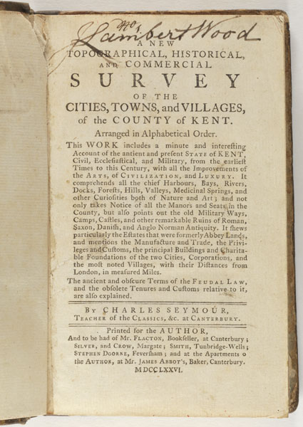 Title Page: A new topographical, historical, and commercial survey
