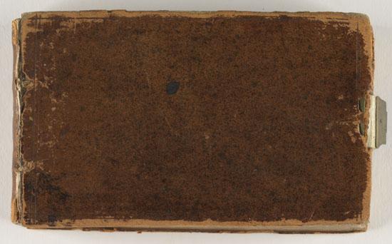 Cover: Thomas Smith travel diary, 1807