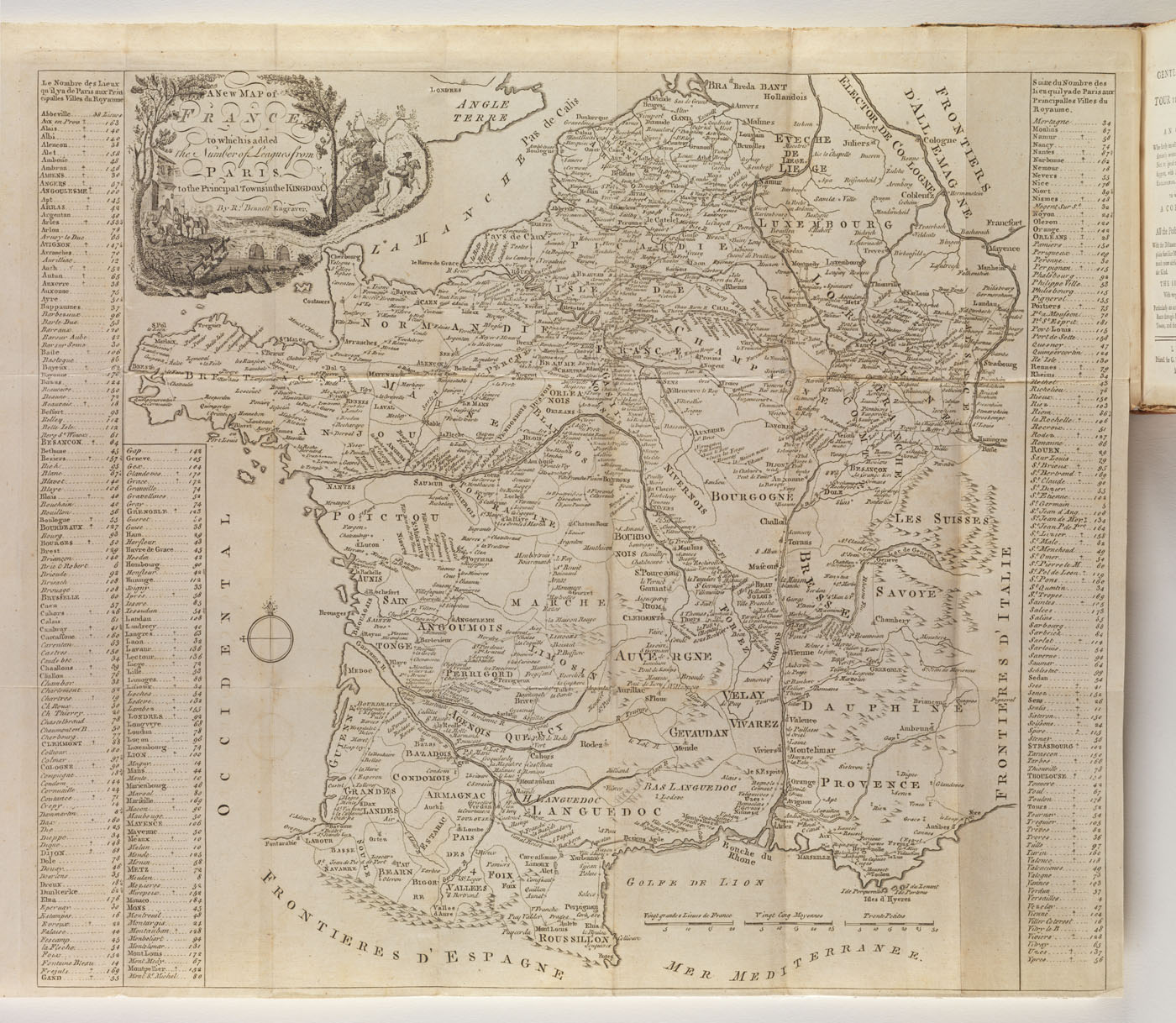 Map from: The gentleman's guide in his tour through France