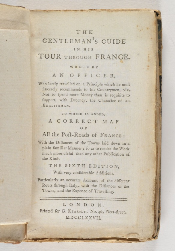 Title page: The gentleman's guide in his tour through France