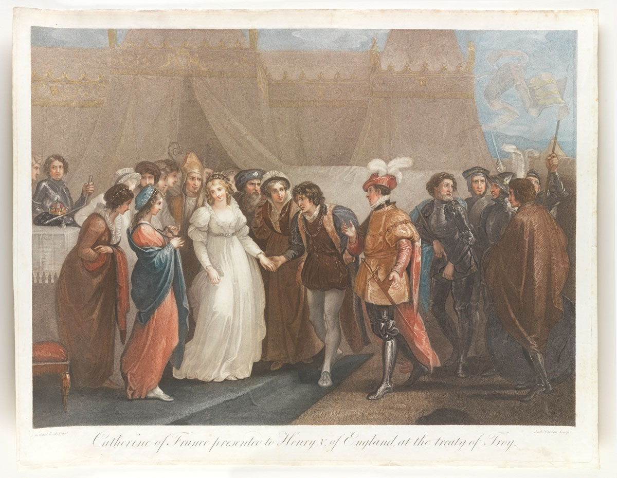 Catherine of France presented to Henry V of England at the treaty of Troy
