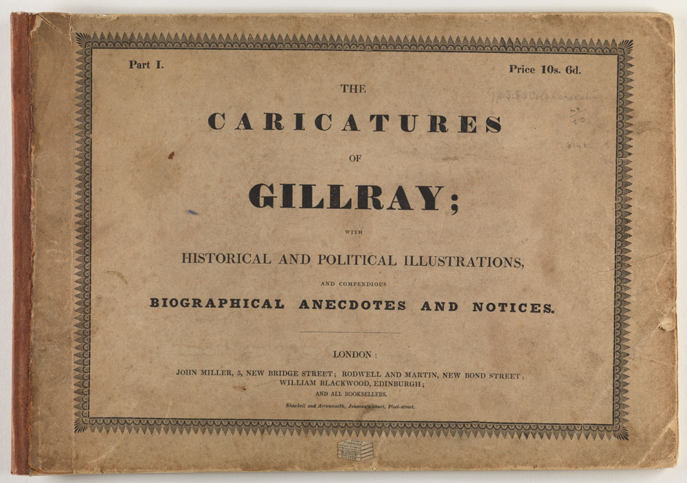 Title page: The caricatures of James Gillray...