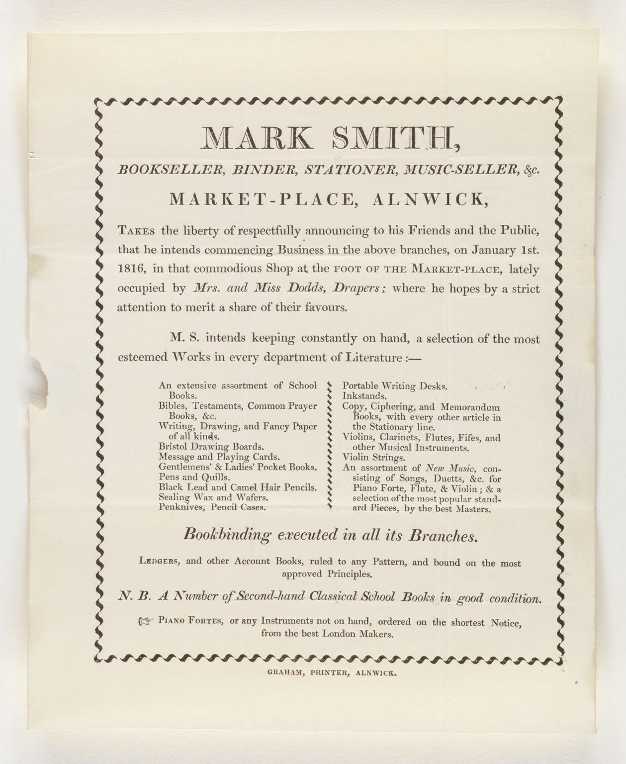 Mark Smith bookseller...