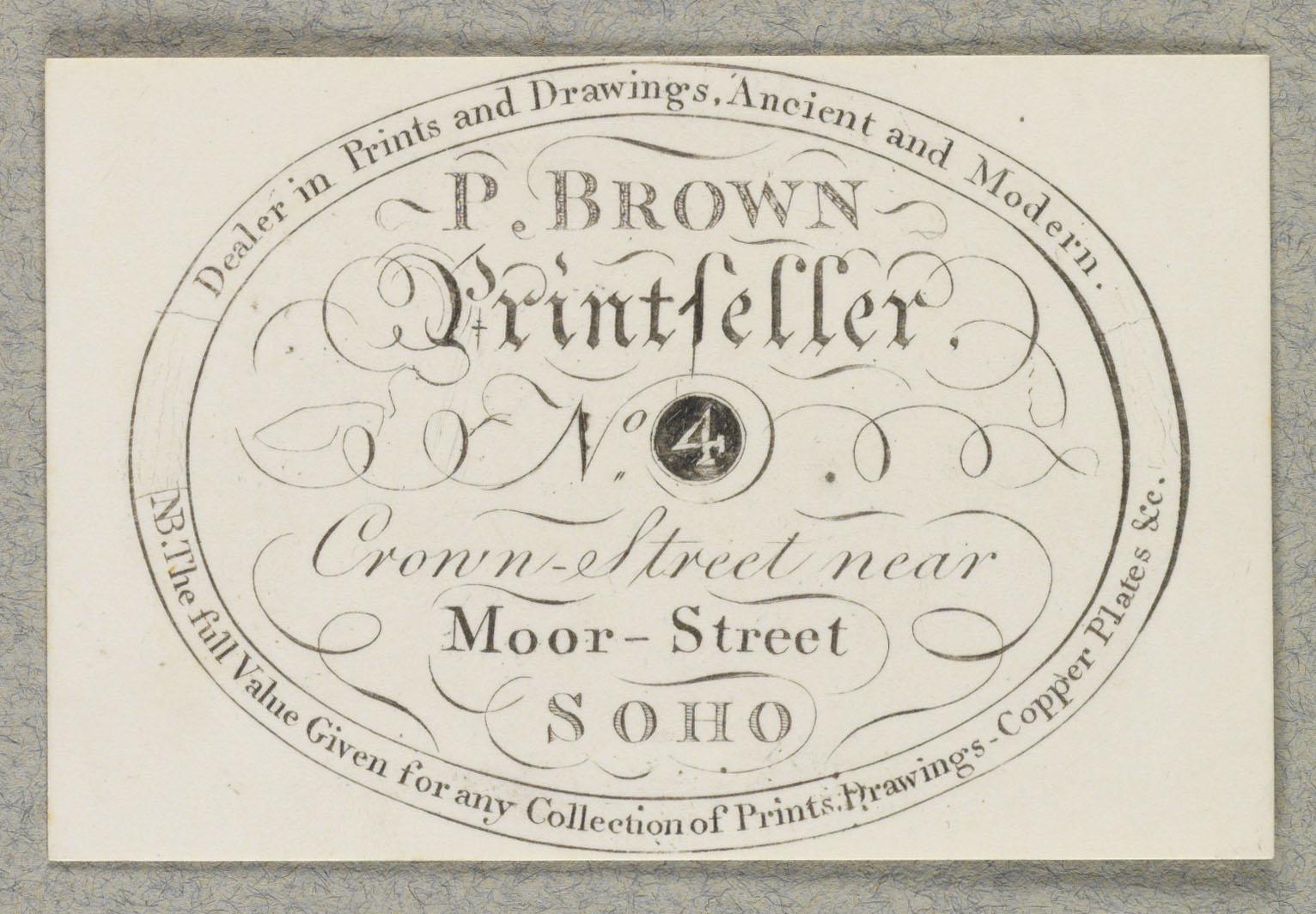 P. Brown Printseller