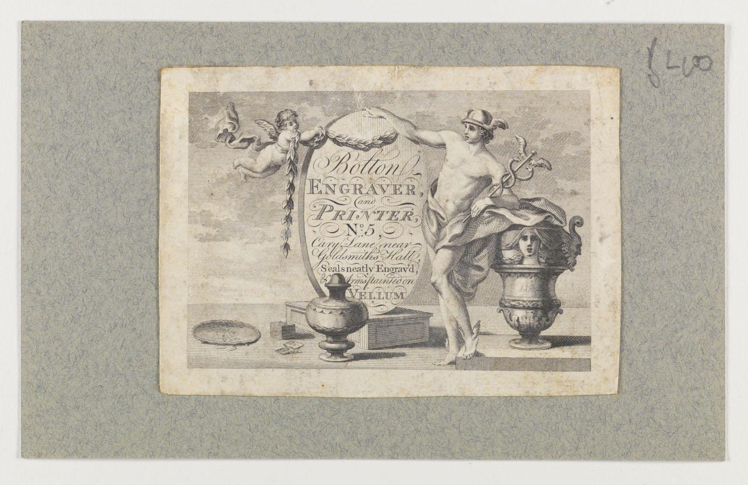 Bolton engraver and printer, No. 5 Cary Lane