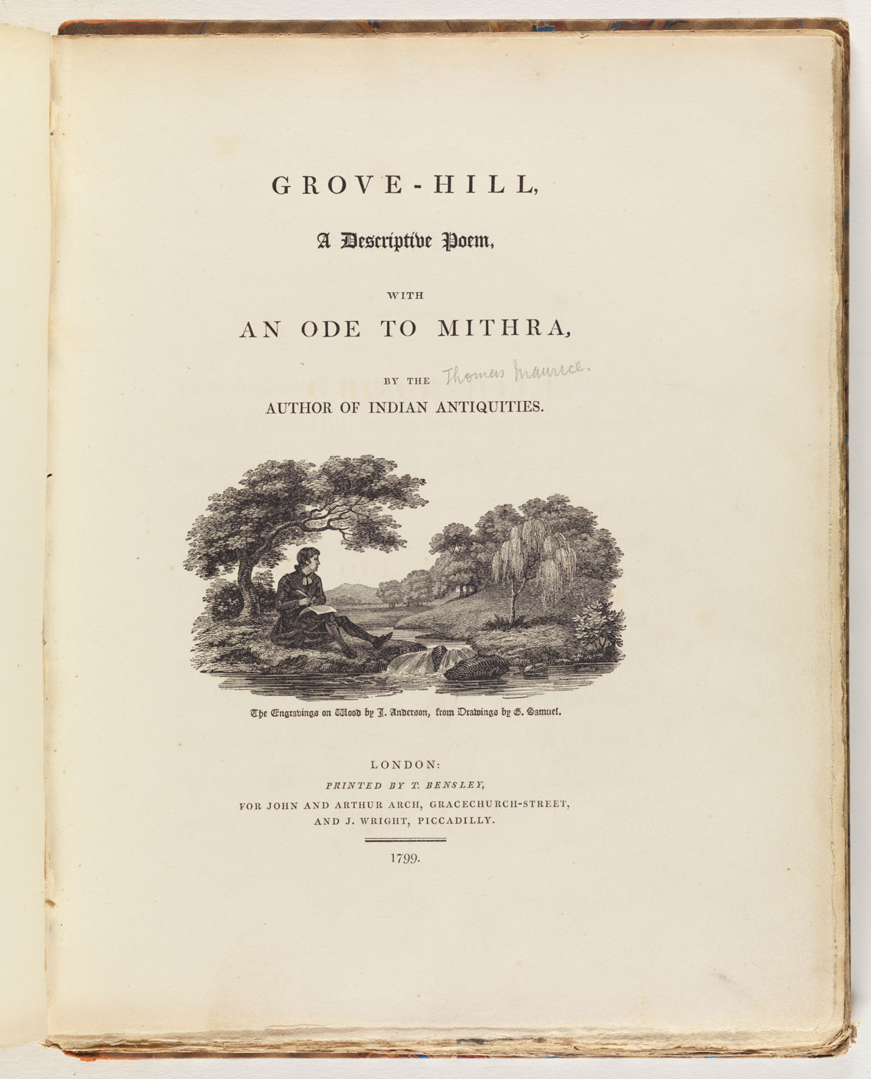 Title Page: Grove-Hill : a descriptive poem, with An ode to Mithra