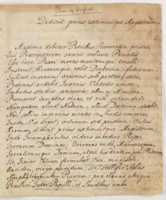 Didicit prius extimuitque magistrum