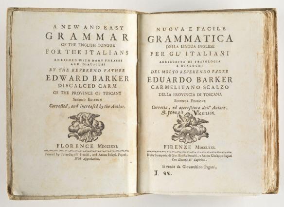 Nuova e facile grammatica della lingua inglese per gl'italiani