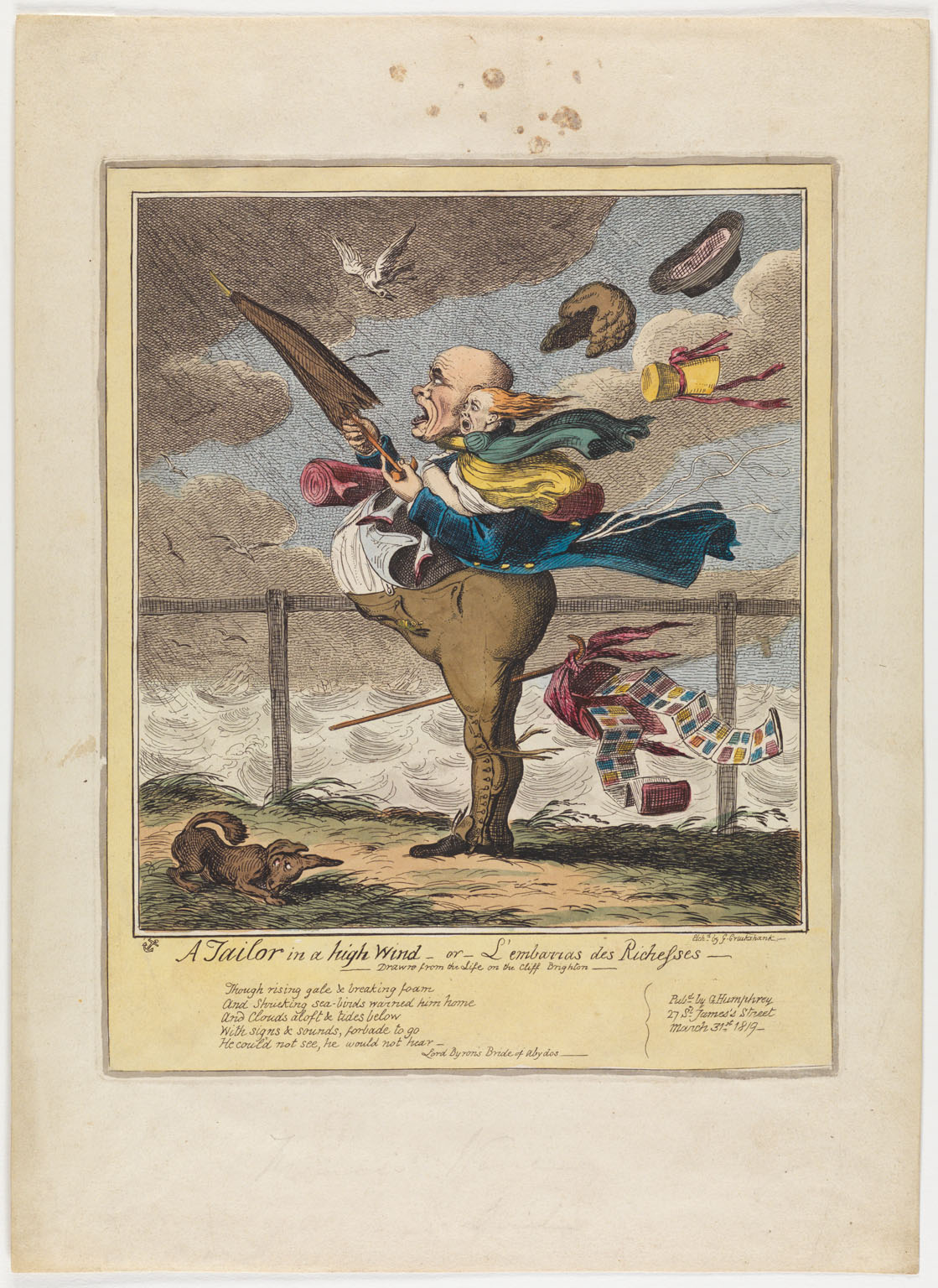 CLICK FOR LARGER IMAGE: A tailor in a high wind