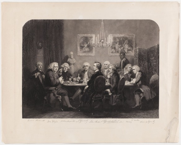 CLICK FOR LARGER IMAGE: A literary party at Sir. Joshua Reynolds