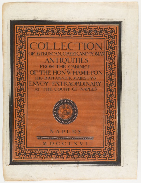 CLICK FOR LARGER IMAGE: [Title page from Collection of Etruscan, Greek, and Roman antiquities