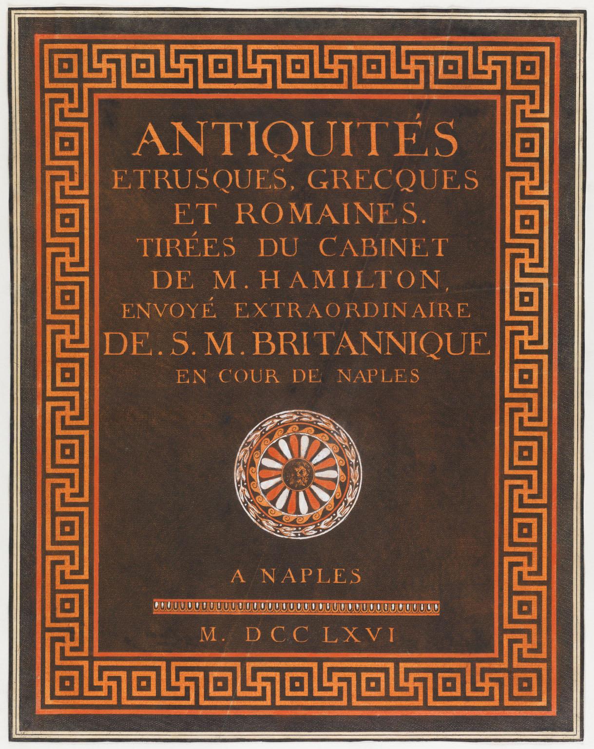 CLICK FOR LARGER IMAGE: Title page from Antiquités etrusques, grecques et romaines