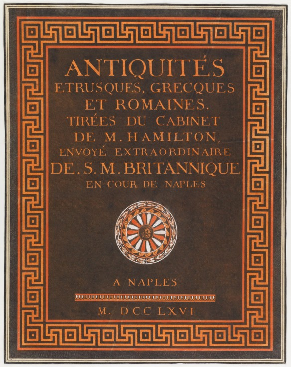 CLICK FOR LARGER IMAGE: Title page from Antiquités etrusques, grecques et romaines