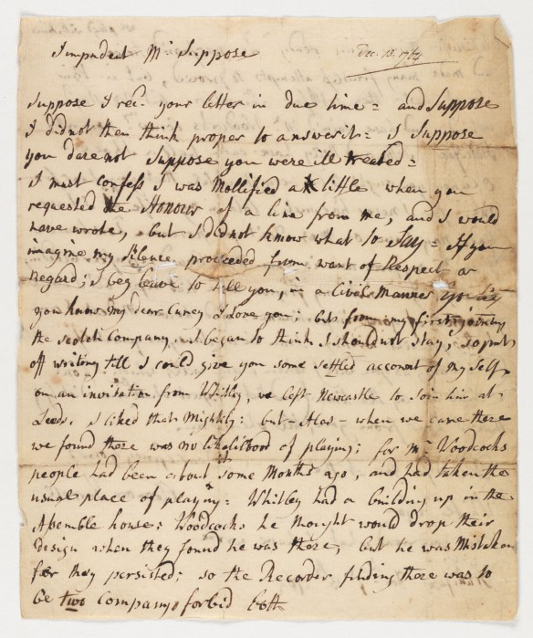 "CLICK FOR LARGER IMAGE: Letter : Halifax, to ""Impudent Mr. Suppose"""