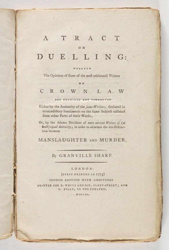 Title Page - A tract on duelling