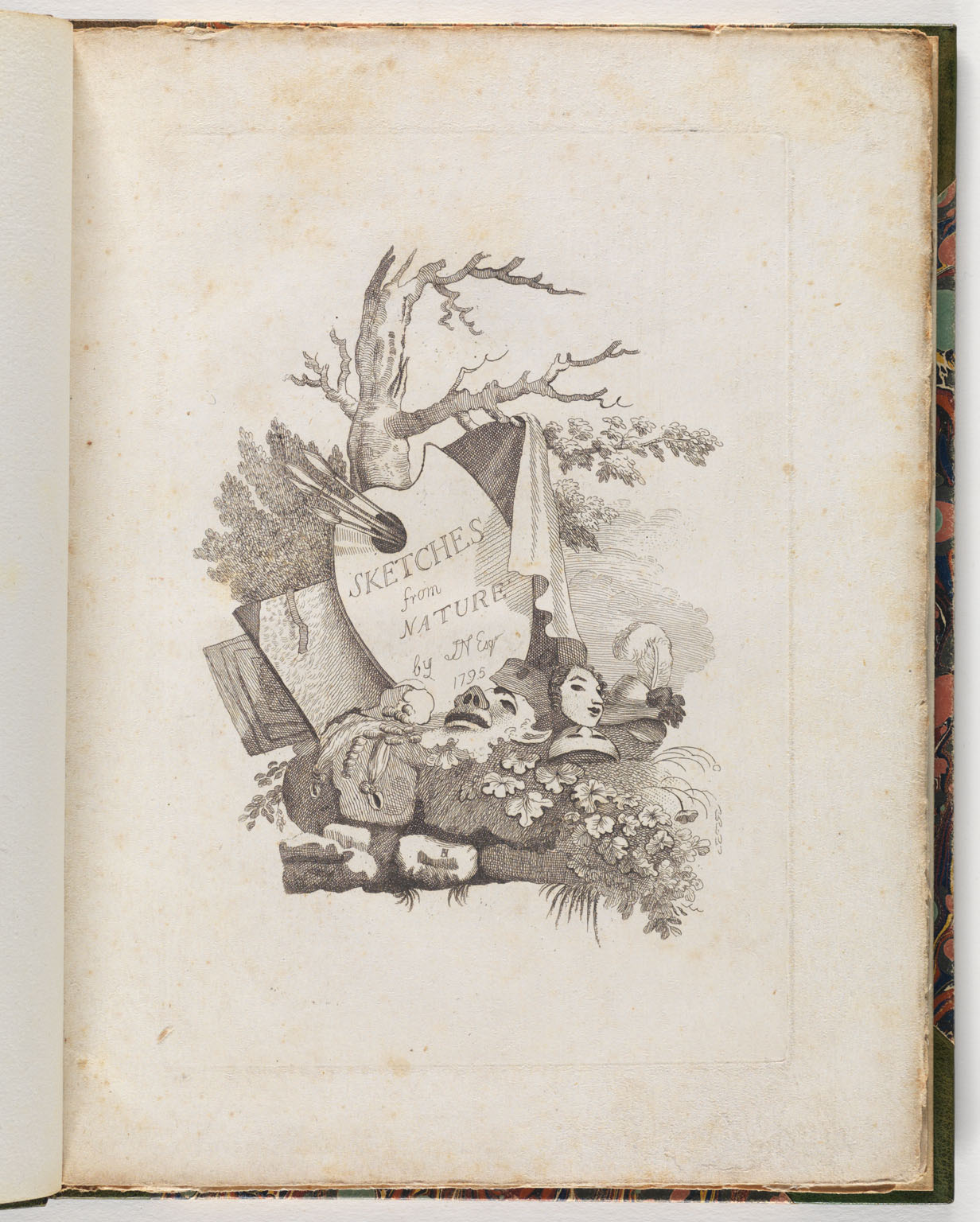 CLICK FOR LARGER IMAGE: Sketches from nature -- Title page