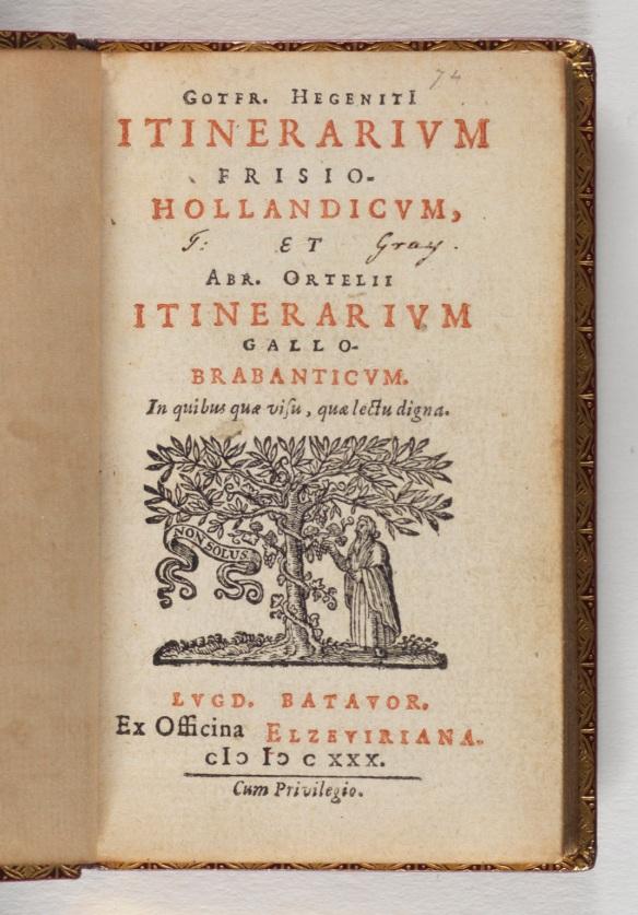 Title: Gotfr. Hegeniti[i] Itinerarium ...