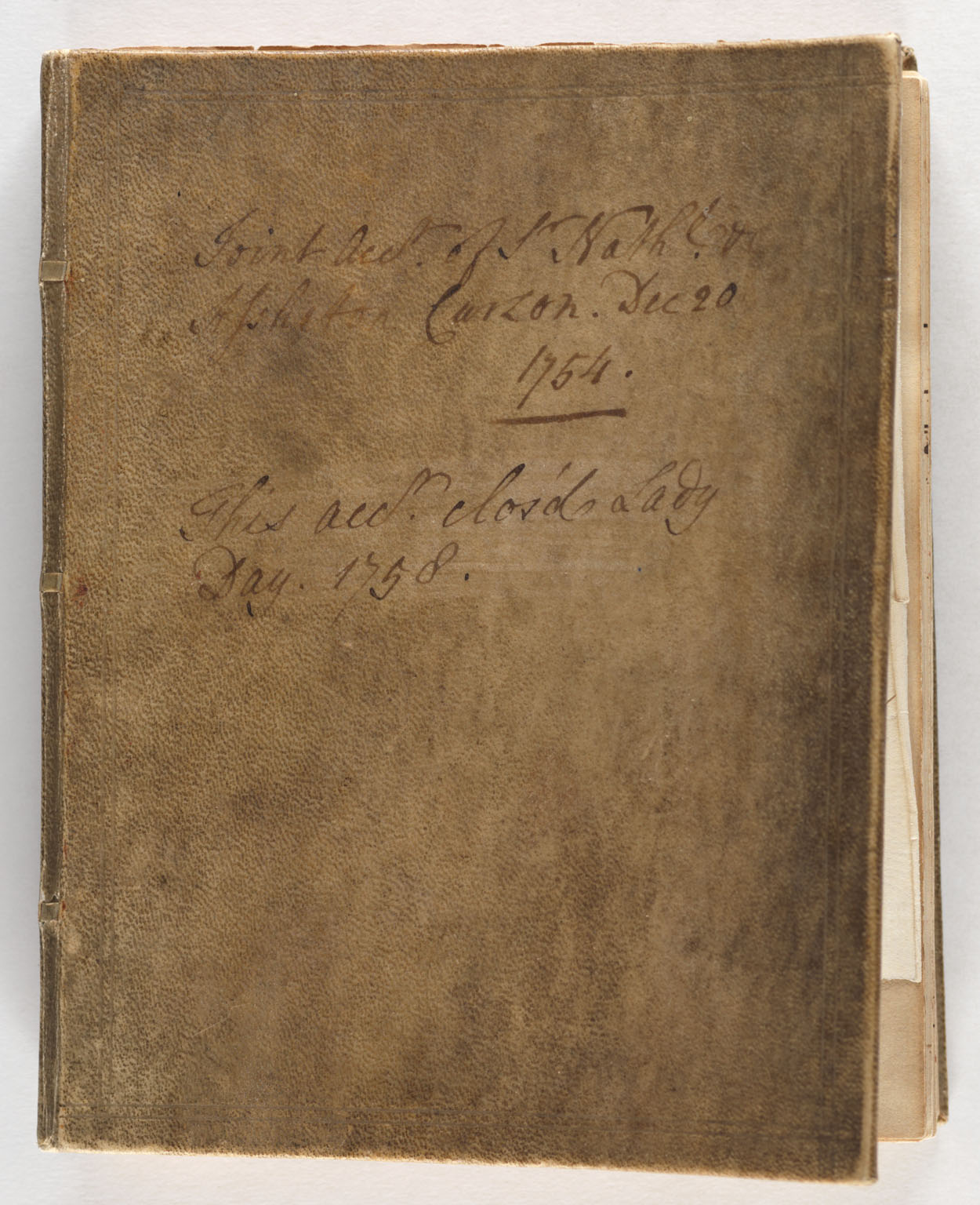 CLICK FOR LARGER IMAGE: Account book, 1754 December 23-1758 April 19