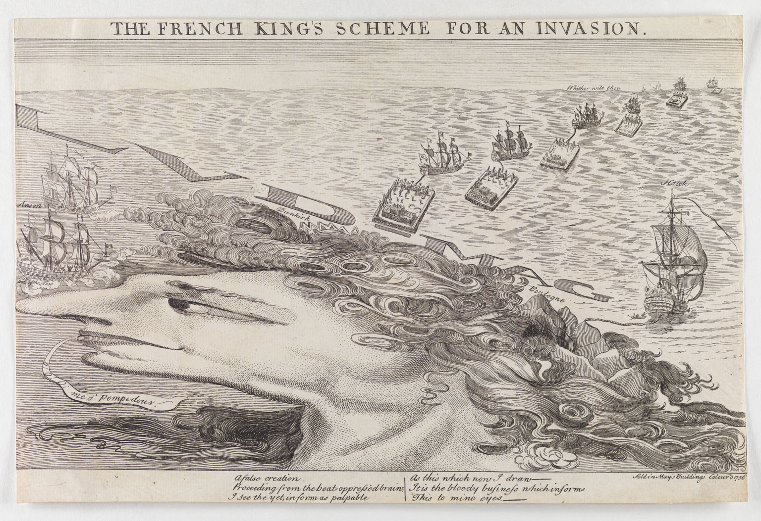CLICK FOR LARGER IMAGE: The French King's scheme for an invasion