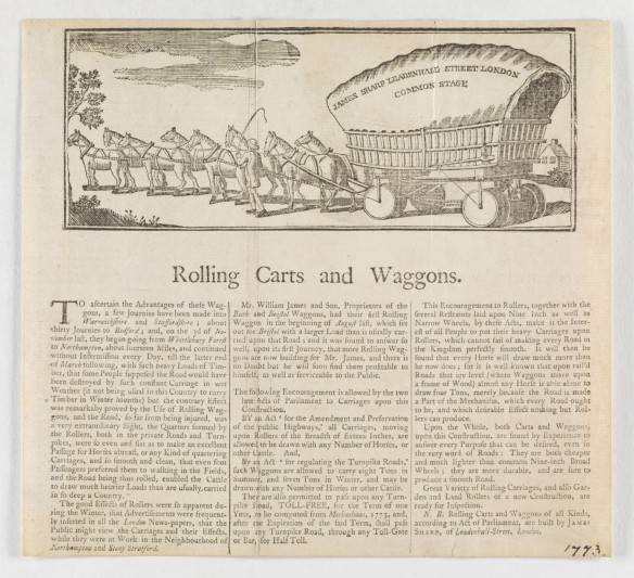 CLICK FOR LARGER IMAGE: Rolling carts and waggons
