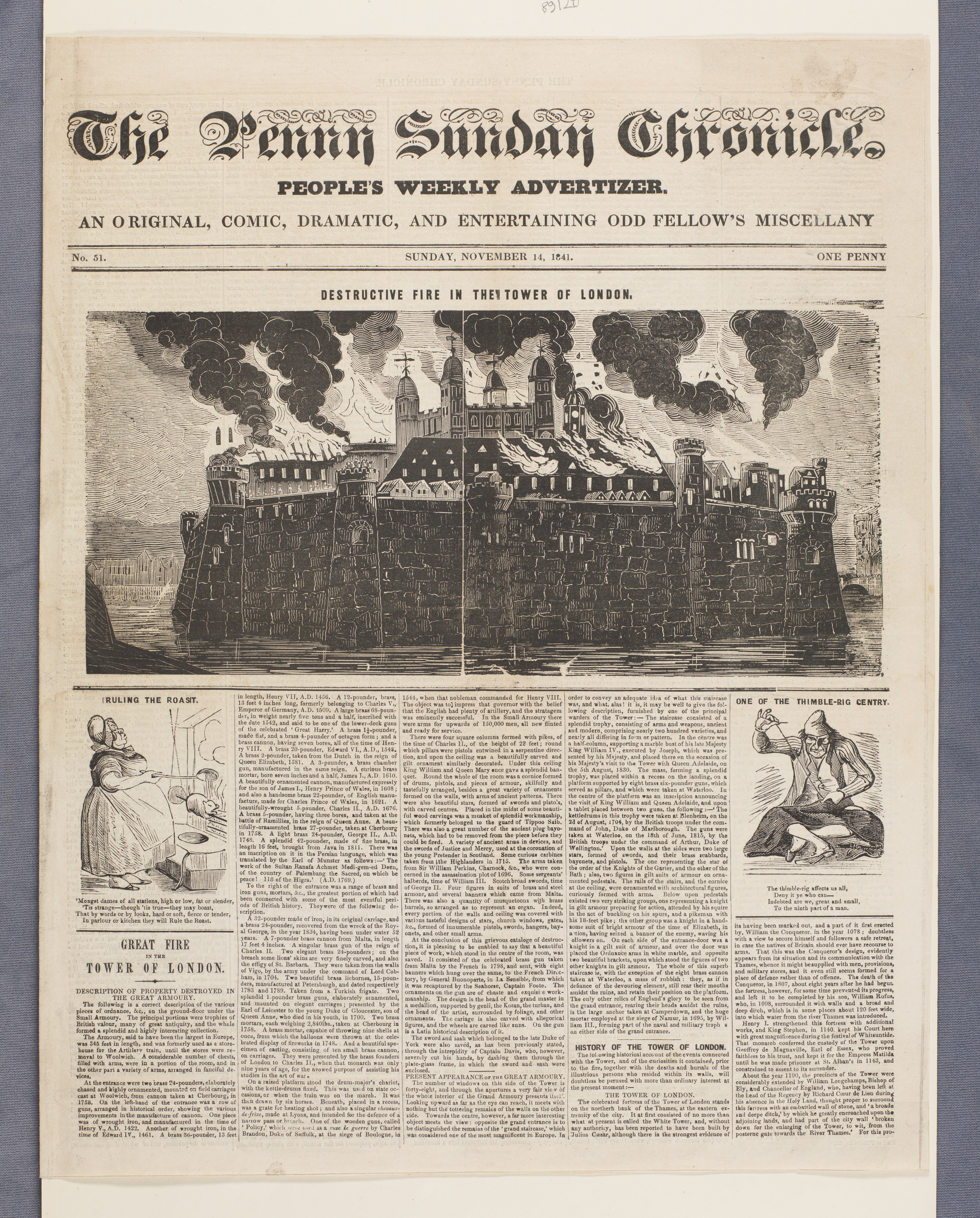 The penny Sunday chronicle newspaper