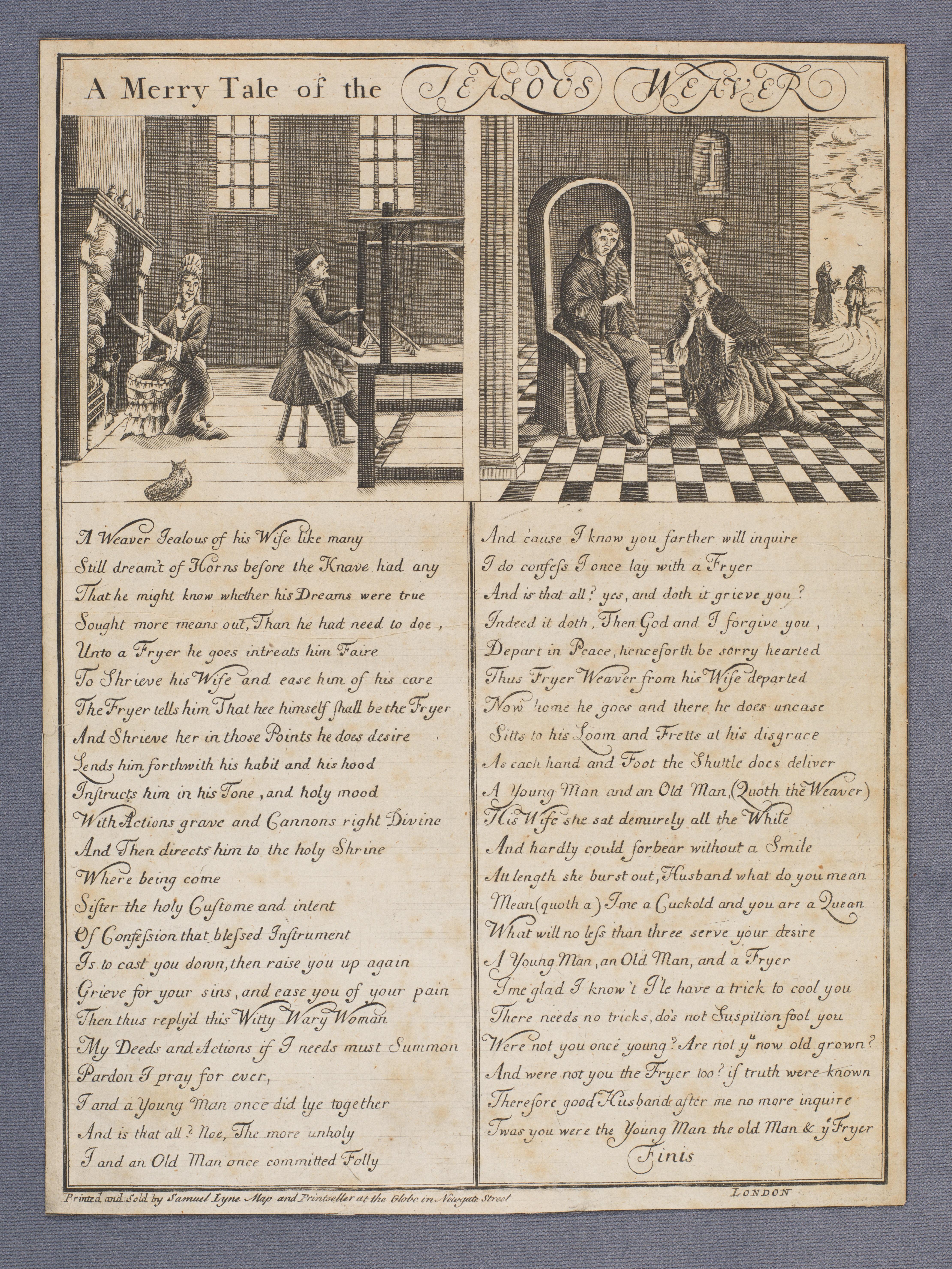 A merry tale of the jealous weaver. Detailed description below
